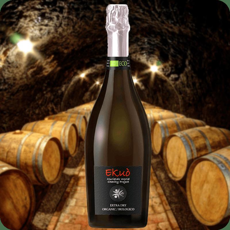 Vino Orgánico Espumoso Extrs Dry Ekuó, Caja con 6 botellas de 750ml