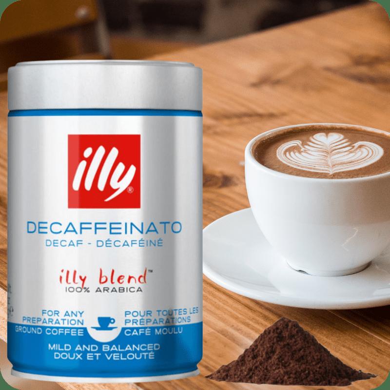 Illy café molido descafeinado tostado clásico Caja con 6 latas de 250gr