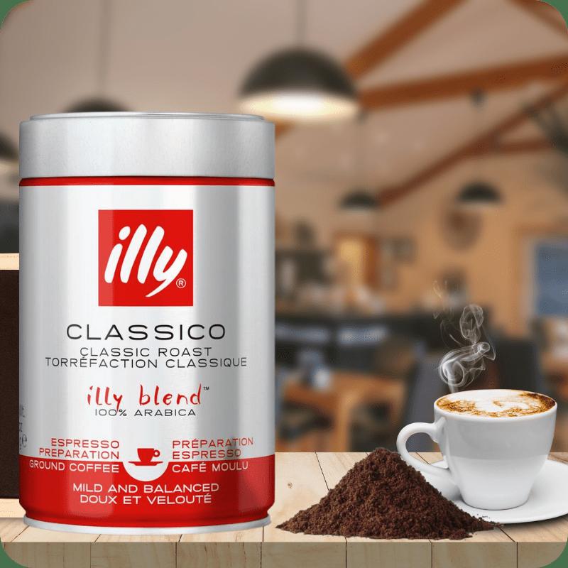 Illy café molido tostado clásic
