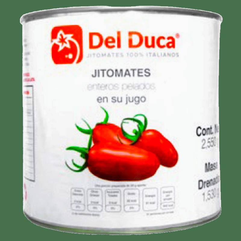 Jitomates enteros pelados en su jugo, Del Duca Producto