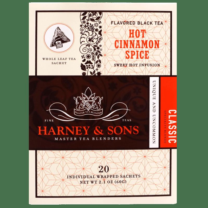 Té de Canela, Harney & Sons, Caja con 6 paquetes, 20 sobres por paquete.