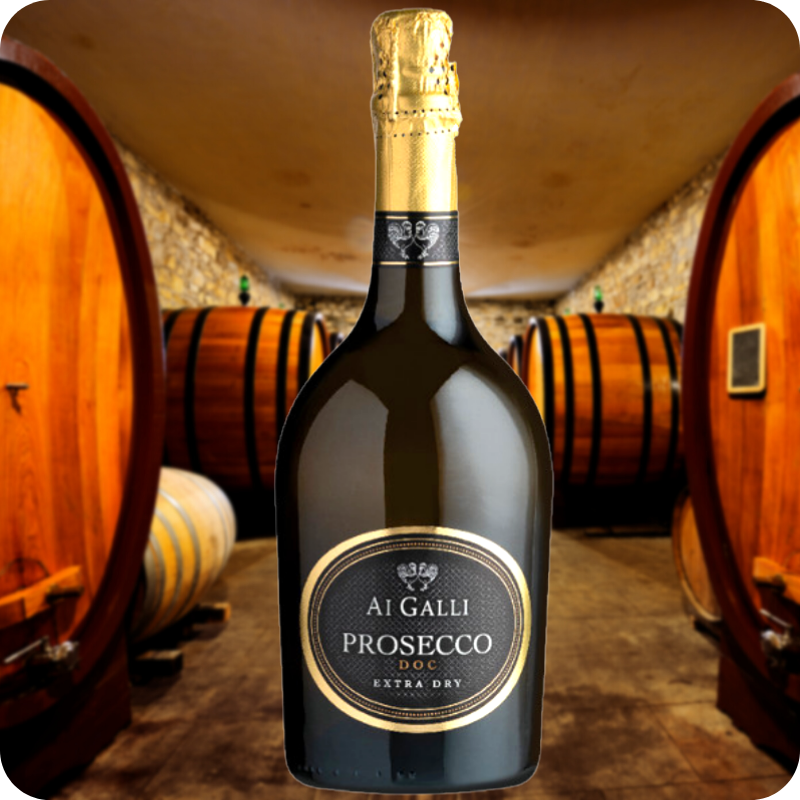 Ai Galli Extra Dry DOC, Prosecco, Caja con 6 botellas de 750ml