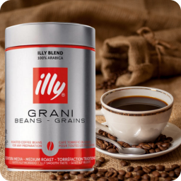 Illy café en grano tostado clásico Caja con 2 latas de 3kg
