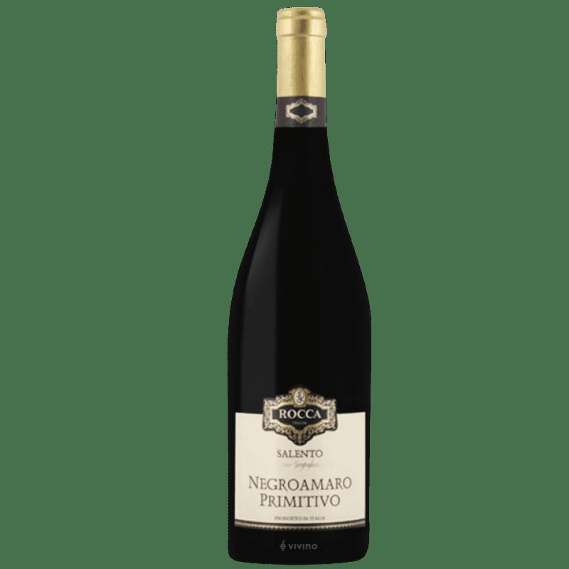 Negroamaro Primitivo IGT, Rocca, Cosecha 2018, Caja con 6 botellas de 750ml