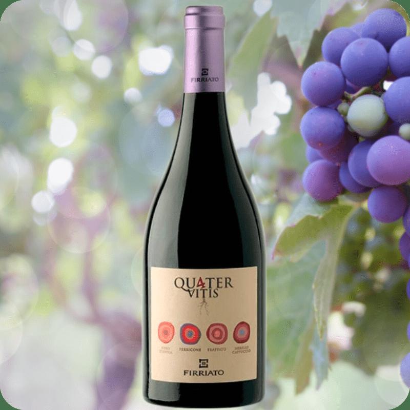 Quater Vitis Rosso IGT, Firriato, Cosecha 2018 Caja con 6 botellas de 750ml