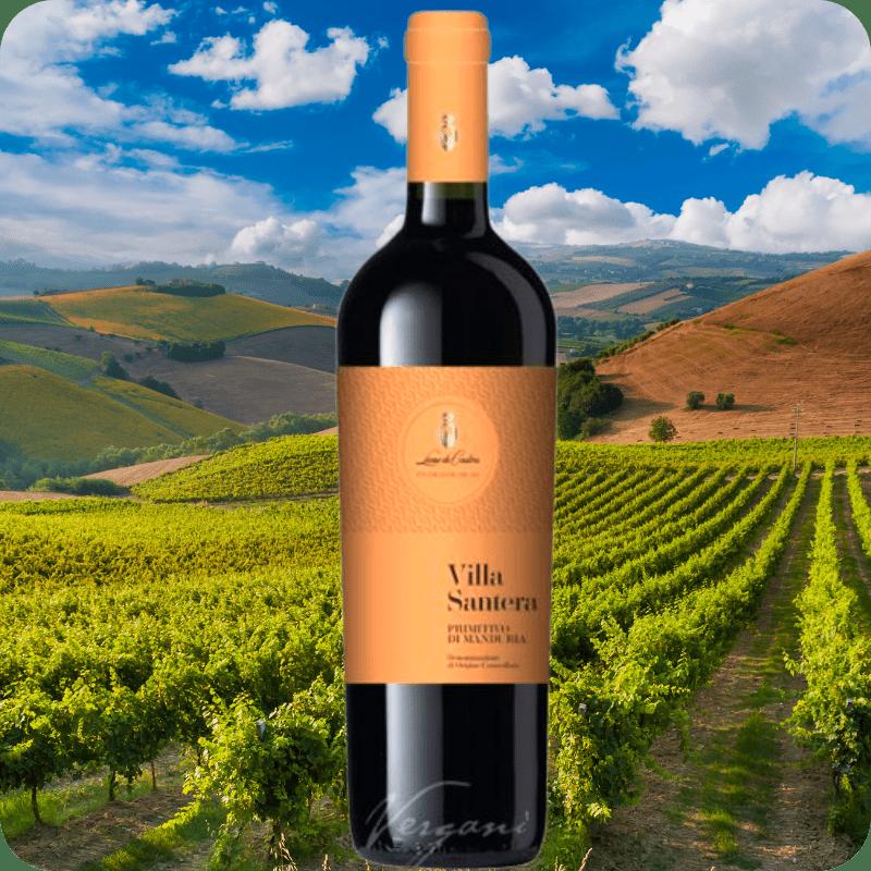 Villa Santera DOC, Leon de de Castris, Cosecha 2018, Caja con 6 botellas de 750ml