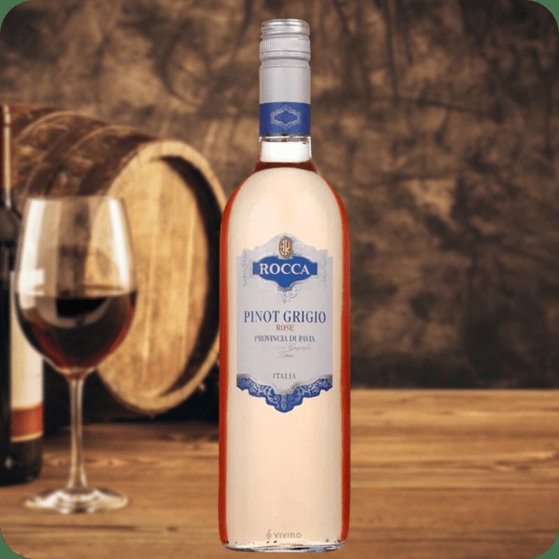 Pinot Grigio Rose, Rocca, Cosecha 2018, Caja con 6 botellas de 750ml